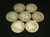 1920 S,1923 S,1925 S,1927 S,1928 S 1929 S 1930 S OLD BUFFALO NICKELS US COINS
