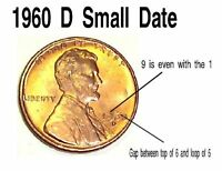 LOT OF 2   1960 D SD MEMORIAL CENT   SMALL DATE BU EXCELLENT CONDITION