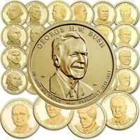 COMPLETE 2007 2016 SET OF PRESIDENT DOLLAR COINS  39  P OR D MINT THRU REAGAN