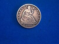 1854   O  NEW ORLEANS MINT SEATED HALF DOLLAR FINE CONDITION ARROWS AT DATE