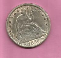 1854 O SEATED LIBERTY HALF DOLLAR ARROWS CHOICE FINE
