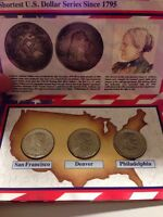 1979 P,D,S SET SUSAN B ANTHONY DOLLAR UNCIRCULATED COIN SET WITH STORYCARD