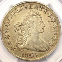 1805 DRAPED BUST HALF DOLLAR 50C  - PCGS EXTRA FINE  DETAILS EF -  $2,100 VALUE IN EXTRA FINE 40