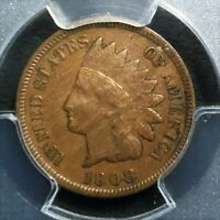 1908 S INDIAN HEAD PENNY PCGS XF45 CAC  BEAUTIFUL COIN   DATE