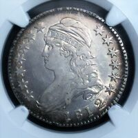 1812/1 50C O 102 SMALL 8 CAPPED BUST HALF DOLLAR NGC XF 40
