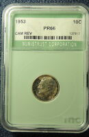 1953 GEM PROOF  ROOSEVELT DIME  CAMEO REVERSE  BELOW TRENDS WITH