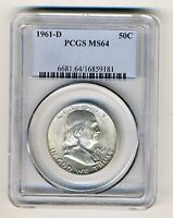 1961 D FRANKLIN HALF DOLLAR PCGS MS64