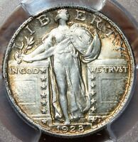 NICE  MS 64 1928 STANDING LIBERTY QUARTER PCGS  TONED LUSTER