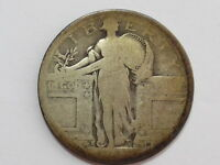 COINHUNTERS 1917 S TYPE 1 STANDING LIBERTY SILVER QUARTER   POOR