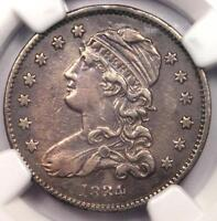 1834 CAPPED BUST QUARTER 25C   NGC XF DETAILS EF    EARLY DATE COIN