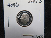 2007 S 10C SILVER ROOSEVELT DIME. PROOF SILVER DIME. LARGE COIN STORE 4046