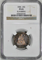 1846 LIBERTY SEATED 25C NGC PR 65