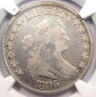 1806 DRAPED BUST HALF DOLLAR 50C O-120 - NGC FINE DETAILS -  CERTIFIED COIN