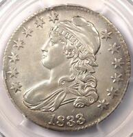 1833 CAPPED BUST HALF DOLLAR 50C   PCGS AU DETAILS    CERTIFIED COIN