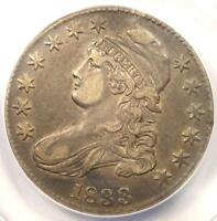 1833 CAPPED BUST HALF DOLLAR 50C O 102   ANACS XF40 DETAILS EF40    COIN