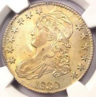 1830 CAPPED BUST HALF DOLLAR 50C O 116   NGC AU DETAILS      NICE LUSTER