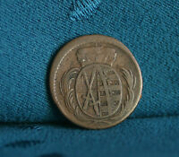 SAXONY 1784 GERMAN STATES 1 PFENNIG COPPER WORLD COIN GERMANY CROWNED ARMS