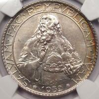 1932 R SAN MARINO 20L   NGC UNCIRCULATED    UNC BU MS CERTIFIED COIN