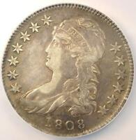 1808 CAPPED BUST HALF DOLLAR 50C O 106   NGC XF DETAILS EF    COIN