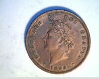 1826 GREAT BRITAIN ONE PENNY HIGH CIRCULATED COPPER UK 313