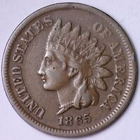 EXTRA FINE  1865 INDIAN HEAD CENT PENNY R1CL
