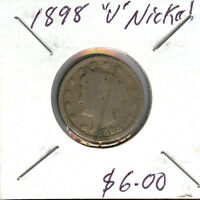 LOT OF 3 V NICKEL 1898-1901-1908