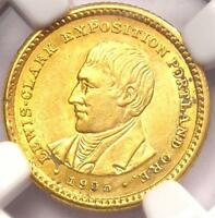 1905 LEWIS & CLARK GOLD DOLLAR G$1 - NGC UNCIRCULATED -  BU MS UNC COIN
