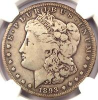 1893-O MORGAN SILVER DOLLAR $1 - NGC F12 -  CERTIFIED KEY DATE COIN