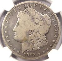 1893-O MORGAN SILVER DOLLAR $1 - NGC VG8 -  CERTIFIED KEY DATE COIN