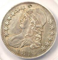 1814 BUST HALF DOLLAR 50C O 102   ANACS AU50 DETAILS    CERTIFIED COIN
