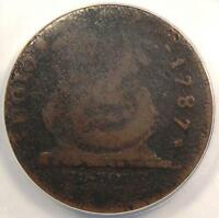 1787 FUGIO CENT 1C   ANACS G4 DETAILS GOOD    CERTIFIED COIN