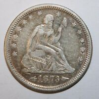 1873 SEATED SILVER QUARTER P46