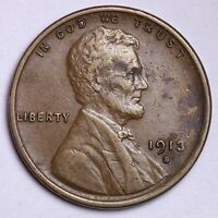 EXTRA FINE  AU 1913-S WHEAT CENT PENNY R2NP