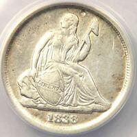 1838 O SEATED LIBERTY DIME 10C RPM 1   ANACS VF35 DETAILS    CERTIFIED COIN