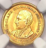 1905 LEWIS & CLARK GOLD DOLLAR G$1 - NGC UNCIRCULATED DETAILS BU MS UNC COIN