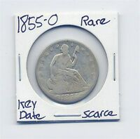 1855 O SEATED LIBERTY HALF DOLLAR  US MINT COIN  CHECK FOR VAM