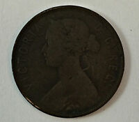 1876 NEW FOUNDLAND QUEEN VICTORIA LARGE CENT /FOREIGN COIN/ CANADIAN ONE CENT