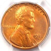 1925-D LINCOLN WHEAT CENT 1C - PCGS UNCIRCULATED DETAILS -  MS BU UNC PENNY