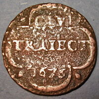 COA EARLY DATE 1676 NEW YORK PENNY DUTCH COLONIAL UTRECHT MINT COPPER CENT