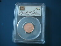 2014 S PCGS PR69RD DCAM LINCOLN SHIELD LYNDALL BASS AUTOGRAPH LABEL   NICE