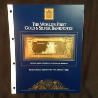 FIRST GOLD BANKNOTES ANTIGUA 1.5 DWT PIERRE LEGRAND CAPTURES VICE ADMIRAL'S SHIP