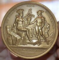 UNITED STATES DIPLOMATIC MEDAL 1776 US MINT BRONZE MEDAL 2 13/16