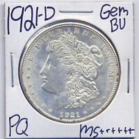 1921 D MORGAN DOLLAR UNCIRCULATED US MINT GEM PQ SILVER COIN BU UNC MS