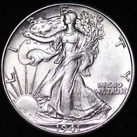 UNC 1941 D WALKING LIBERTY HALF DOLLAR R4CM
