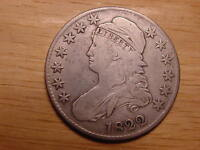 1822 CAPPED BUST HALF DOLLAR  DATE