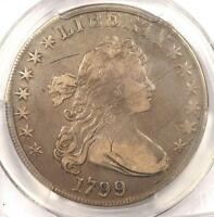 1799 DRAPED BUST SILVER DOLLAR $1 COIN   CERTIFIED PCGS VF DETAILS