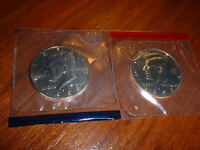 MINT KENNEDY CLAD HALF DOLLARS 1993 P 1993 D IN MINT PACKAGING  2 COINS TOTAL