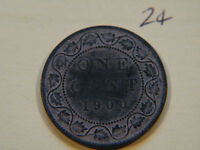 3 1900 H CANADA CANADIAN LARGE CENT COIN  CANADIAN ONE CENT