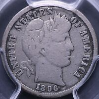 1896 S BARBER DIME PCGS F15 8 15NMT
