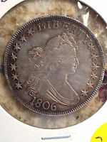 1806 US DRAPED BUST HALF DOLLAR POINTED 6 WITH STEM EXTRA FINE